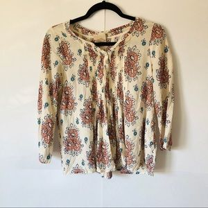 Vanessa Virginia | Floral Patterned Peasant Blouse